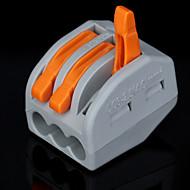 billige Lysbrytere-100stk Pct-213 400V / 4 Kv / 32A Universell Kontakt 0.08-2.5mm² Single / 0.08-4.0mm² Multi Tråd 9-10mm Avisoleringslengde