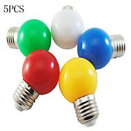 billige Globepærer med LED-5pcs 1 W 50-100 lm E26 / E27 LED-globepærer G45 8 LED perler SMD 2835 Dekorativ Hvit / Rød / Blå 220-240 V / 5 stk. / RoHs