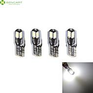 4 x t10 149 168 W5W 3W 8 x 5630 6000k branco luz da cauda do carro / instrumento lâmpada DC12V