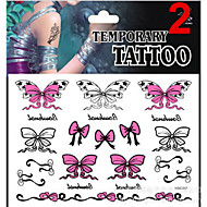 cheap Tattoo Stickers-1 Glitter Non Toxic Pattern Lower Back Waterproof Christmas Jewelry Series Animal Series Flower Series Totem Series Others Tattoo Stickers