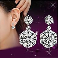 Feminino Brincos Compridos Imitação de Diamante Estilo bonito Jóias de Luxo bijuterias Prata de Lei Cristal Strass Jóias Para Casamento