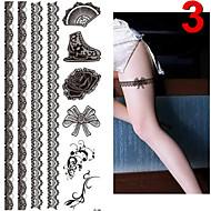 Altele - JT - Acțibilde de Tatuaj - Multicolor - Model - 17*16cm - Bebeluș / Copil / Dame / Girl / Bărbați / Adult / Boy / Adolescent -