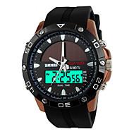 SKMEI Homens Relógio Esportivo Relógio de Pulso Energia Solar Alarme Calendário Cronógrafo Impermeável Solar Relógio Esportivo LED Dois