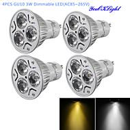 billige Spotlys med LED-YouOKLight 300 lm GU10 LED-spotpærer R63 3 leds Høyeffekts-LED Mulighet for demping Dekorativ Varm hvit Kjølig hvit AC 85-265V