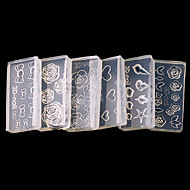 Lijep - 3D Nail akrilni kalupovi / Nakit za nokte - za Prst / nožni prst - 4*2 - Other - 6pcs