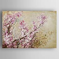Ручная роспись Цветочные мотивы/ботаническийModern 1 панель Холст Hang-роспись маслом For Украшение дома