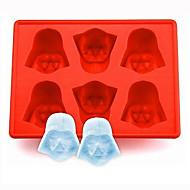 silicon darth vader gheață cub de tavă mucegai cookie-uri ciocolată săpun de copt bucătărie unealtă de culoare aleatoare