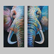 billiga POP Art-Hang målad oljemålning HANDMÅLAD - Popkonst Moderna Inkludera innerram / Sträckt kanfas