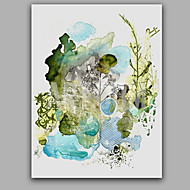 cheap Oil Paintings-Hand-Painted Abstract Vertical Panoramic, Style Canvas Oil Painting Home Decoration One Panel