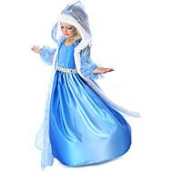 プリンセス 童話 エルサ コスプレ衣装 女の子 映画コスプレ ブルー コート ドレス グローブ ハロウィーン 新年 シフォン