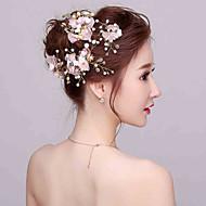 Χαμηλού Κόστους Κομψά λουλουδάτα-Απομίμηση Μαργαριταριού / Στρας Λουλούδια με 1 Γάμου / Ειδική Περίσταση Headpiece