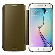 espelho de cristal caso de corpo inteiro para Samsung Galaxy S6 g9250 borda
