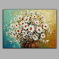 billiga Blom-/växtmålningar-Hang målad oljemålning HANDMÅLAD - Stilleben Parfymerad Duk