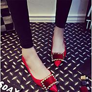 Women's Shoes Flat Heel Comfort Flats Casual Black / Red / Gray