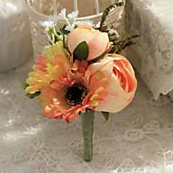 """Χαμηλού Κόστους Λουλούδια-Λουλούδια Γάμου Μπουτονιέρες Γάμου / Πάρτι / Βράδυ Πολυεστέρας 4,33 """" (περίπου11εκ)"""