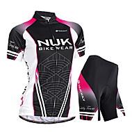 ieftine Nuckily®-Nuckily Jerseu Cycling cu Pantaloni Scurți Pentru femei Manșon scurt Bicicletă Pantaloni Scurți Padded Jerseu Pantaloni scurți Set de