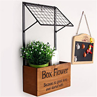 מדף פרח קיר המטבח אחסון מוצרי אופנה אמנות דקורטיבית מדף עץ