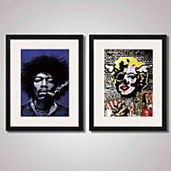Zene Híres Emberek Absztrakt Nyomtatott művészeti alkotások Bekeretezett vászon Bekeretezett szett Wall Art,PVC Anyag a Frame For