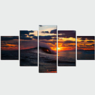 5 Panel Wall Art Modern Landscape Paintings Sea Sunset Canvas Wall Pictures  Artwork Print On Canvas