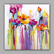 cheap Oil Paintings-Hand-Painted Still Life Square, Modern Canvas Oil Painting Home Decoration One Panel