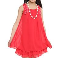 Fata lui Roz Floral Șifon / Dantelă Vară Roz