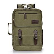 billige Computertasker-Dame Unisex Tasker Lærred Tote rygsæk for Afslappet Alle årstider Sort Brun Grøn Kakifarvet