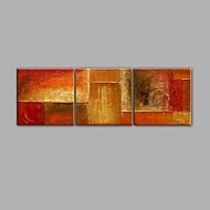 Pictat manual Abstract Orizontală Panoramic,Modern Trei Panouri Canava Hang-pictate pictură în ulei For Pagina de decorare