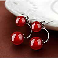 Natural Agate 925 Silver Earrings