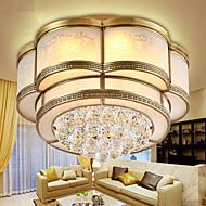 billige Taklamper-3-Light Takplafond Omgivelseslys Messing Metall Glass Krystall 220-240V Varm Hvit / Hvit LED lyskilde inkludert / Integrert LED