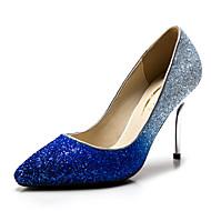 Topuklular - Düğün / Elbise / Parti ve Gece - Topuklu / Sivri Burun - Parıltılı / Sentetik - Stiletto Topuk - Mavi / Gümüş / Altın -Kadın