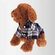Kat Hund T-shirt Hundetøj Klassisk Afslappet/Hverdag Plæd / Tern Rød Grøn Blå Kostume For kæledyr