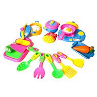 Muuttumisleikit Toy Kitchen Asettaa Toy Astiat ja tee setit Lelut Vihannekset Simulointi Tyttöjen 17 Pieces
