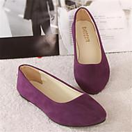 baratos Sapatos Femininos-Mulheres Flanelado Verão Sem Salto Azul Real / Vinho / Verde Escuro