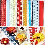 40pcs 51 εκατοστών πολλαπλών σχημάτων quilling χαρτί που διαφορετικά λουλούδι πέταλο δημιουργική diy origami χαρτί έλασης (σύνολο 5pcsx8)