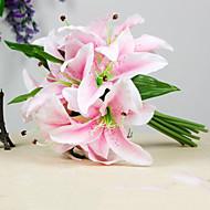 폴리에스터 백합 인공 꽃
