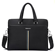 Men Bags PU Shoulder Bag Tote Satchel for Shopping Casual Formal Office & Career All Seasons Black Blue