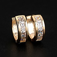 Women's Cubic Zirconia Stud Earrings Hoop Earrings Huggie Earrings Zircon Earrings Ladies Fashion Jewelry Silver / Golden For Wedding Party Daily Casual Sports Masquerade