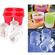 hesapli -fincan kalıp buz diy kalıp buzlu şeker kalıpları çıkar yoğurt buz kutusu buzdolabı dondurulmuş davranır dondurucu (ramdon renk)