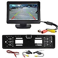 "cheap Car Rear View Camera-Wireless Car Rear View Kit 4.3"" TFT LCD Monitor + Rear View Camera Universal EU/European License Plate Frame"