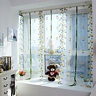 Et panel Window Treatment Europeisk , Kurv Stue Polyester Materiale Gardiner Skygge Hjem Dekor For Vindu