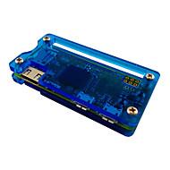 Caso acrílico para Raspberry Pi - zero blac / transparente / azul
