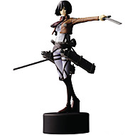 Figuras de Ação Anime Inspirado por Attack on Titan Mikasa Ackermann PVC 14 CM modelo Brinquedos Boneca de Brinquedo