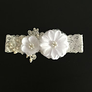 Garter Lace Flower / Imitation Pearl Ivory Wedding Accessories