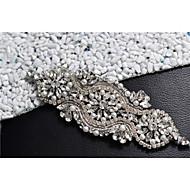結婚式 パーティー/フォーマル 日常着 サッシュ With ラインストーン クリスタル ビーズ 真珠