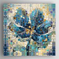 billiga Blom-/växtmålningar-Hang målad oljemålning HANDMÅLAD - Stilleben Moderna Inkludera innerram / Sträckt kanfas