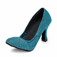 billige Moderne sko-Kan spesialtilpasses-Dame-Dansesko-Moderne-Glimtende Glitter-Kustomisert hæl-Blå