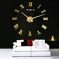 cheap Wall Clocks-Modern/Contemporary Stainless Steel Acrylic Metal Round Novelty Indoor/Outdoor,AA Wall Clock