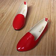 נעלי נשים - שטוחות - דמוי עור - מעוגל - שחור / ורוד / סגול / אדום / לבן / בז' - קז'ואל - עקב שטוח
