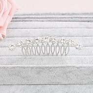 billige Bryllup Hovedbeklædning-Rhinsten Hair Combs 1 Bryllup Speciel Lejlighed Afslappet Office & Karriere udendørs Medaljon