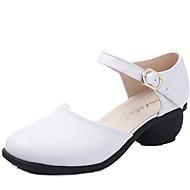 billige Moderne sko-Dame Moderne sko Lær Sandaler Spenne Kubansk hæl Kan ikke spesialtilpasses Dansesko Hvit / Rød / Brun